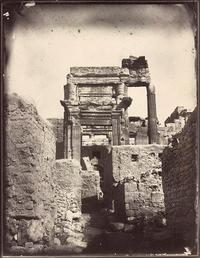Temple of Bel, cella entrance, Louis Vignes, 1864.  Albumen print.  8.8 x 11.4 in.  (22.5 x 29 cm).  The Getty Research Institute.