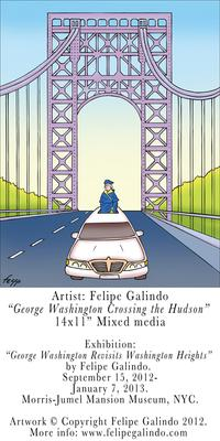"Felipe Galindo ""George Washington Crossing the Hudson"""