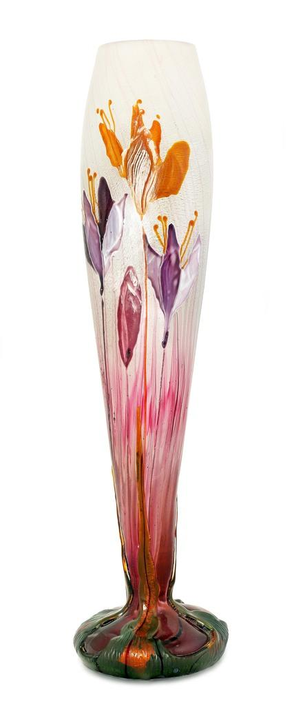 Rare And Important Glass Vase By Emile Galle Fr 1846 1904 Soars