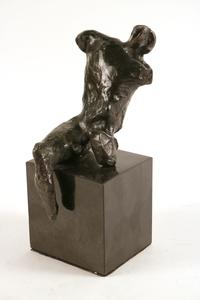 Bronze figural sculpture maquette by British artist Henry Moore (1898-1986), conceived in 1952 and titled Maquette for Warrior Without Shield (est.  $10,000-$20,000).