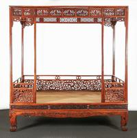 A Chinese Huanghuali Canopy Bed, dating to the early Qing Dynasty