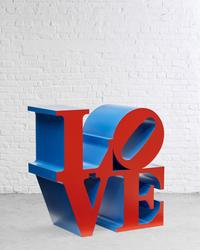 Robert Indiana (b.  1928) LOVE (Red Faces Blue Sides), 1966-2000, polychrome aluminum (estimate: $400,000-600,000)