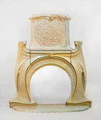 Hector Guimard Fireplace and Chimney Piece, circa 1900 Stoneware 74h x 55w in.