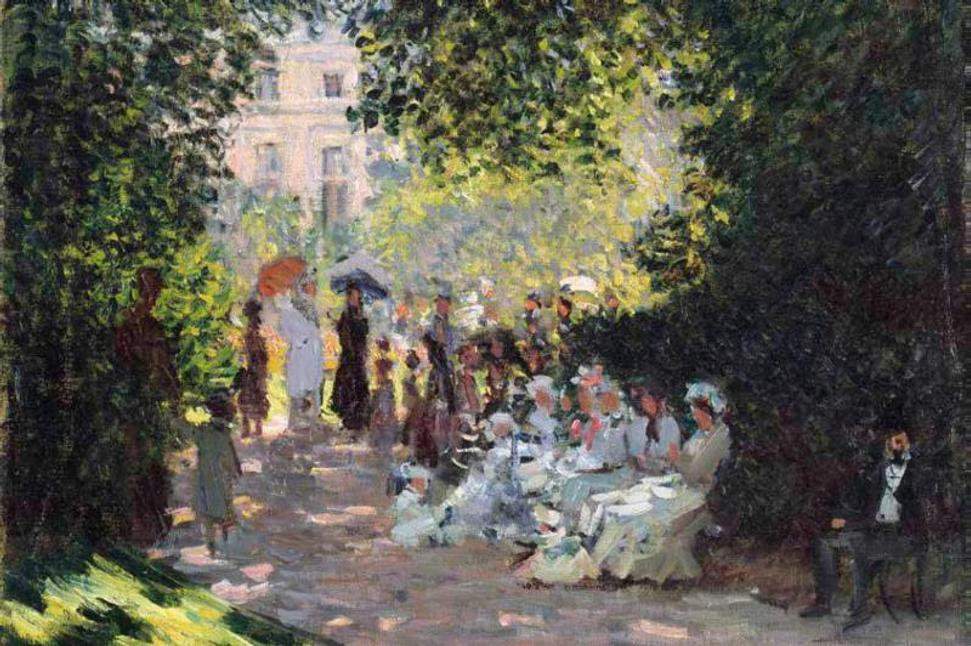 Claude Monet (French, 1840–1926).  The Parc Monceau (detail), 1878.  Oil on canvas.  The Metropolitan Museum of Art, New York, The Mr.  and Mrs.  Henry Ittleson Jr.  Purchase Fund, 1959 (59.142)