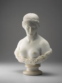 Harriet Hosmer, Daphne, 1853, marble, Purchased with funds provided by the Calvin and Marisa Allen Foundation, Anne Allen Cheatham, and Lizzie Cheatham McNairy and Charlie McNairy on behalf of the Matrons of the Arts Initiative, and by the bequest of Carlisle Adams