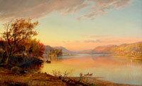 Jasper Francis Cropsey, 1823 - 1900.  Greenwood Lake, New Jersey, 1871.  Oil on canvas.  New-York Historical Society, The Robert L.  Stuart Collection, S-156