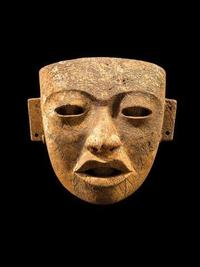 Teotihuacan Ceremonial Mask made of hard stone between 250-450 CE