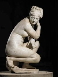 Roman, Aphrodite ('The Crouching Venus'), second century.  Marble.  119 cm.  RCIN 69746.  Royal Collection Trust / © Her Majesty Queen Elizabeth II 2017.