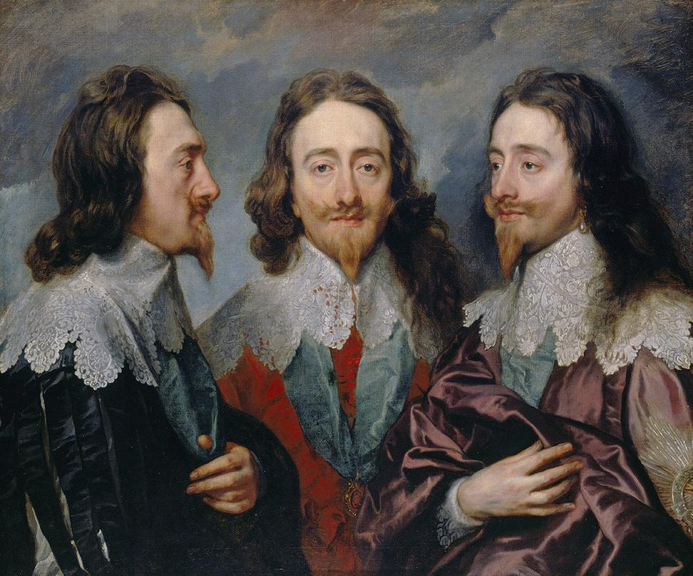 Anthony van Dyck, Charles I, 1635-6.  Oil on canvas.  84.4 x 99.4 cm.  RCIN 404420.  Royal Collection Trust / © Her Majesty Queen Elizabeth II 2017.
