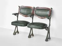 Hector Guimard, Theater Chairs from the Humbert de Romans Concert Hall, Paris, 1900,cast iron, mahogany, leatherette, Lent by The Wolfsonian–Florida International University, Miami Beach, Florida, The Mitchell Wolfson, Jr.  Collection