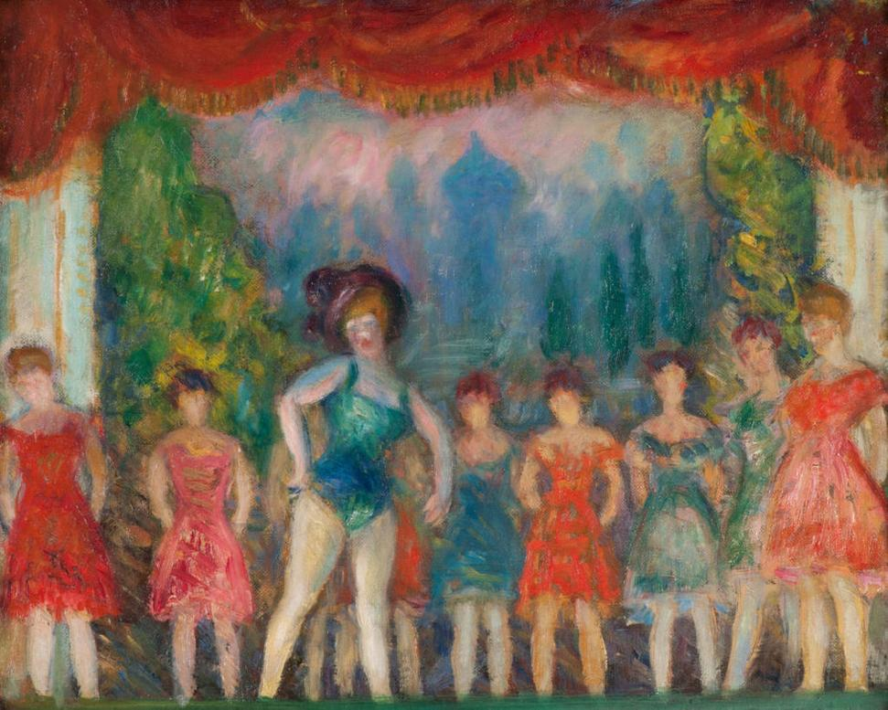 William Glackens, Study for Music Hall Turn, c.1918, oil on canvas, NSU Art Museum Fort Lauderdale; Bequest of Ira D.  Glackens