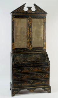 Continental Chinoiserie Decorated Secretary Desk