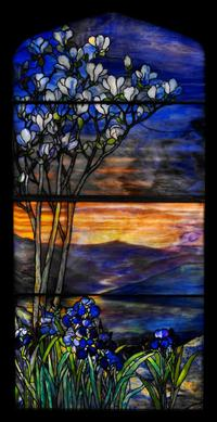 Tiffany Studios, River of Life Window, early 20th century,1900–1910, leaded glass.  Photograph by John Faier.  © 2018 Driehaus Museum