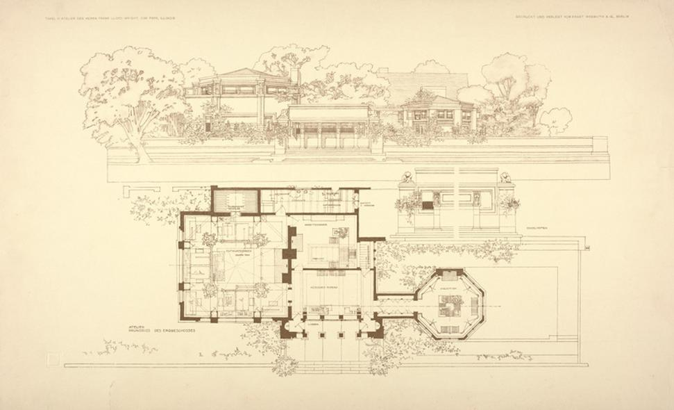 8081 Dallas Museum Of Art Presents Line And Form Frank Lloyd Wright An on Texas Prairie Style House Plans