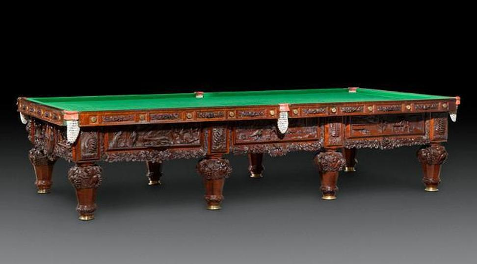 History of Australia Billiards Table, carved by George Billyeald, 1880.