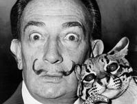 Dali and his pet ocelot