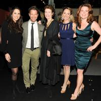 Co-chair Emily Israel Pluhar, Nate Berkus, New York Magazine Design Editor Wendy Goodman, Co-chair Stephanie Clark, Co-chair Courtney Booth at the 2012 Young Collectors Night at the Winter Antiques Show.