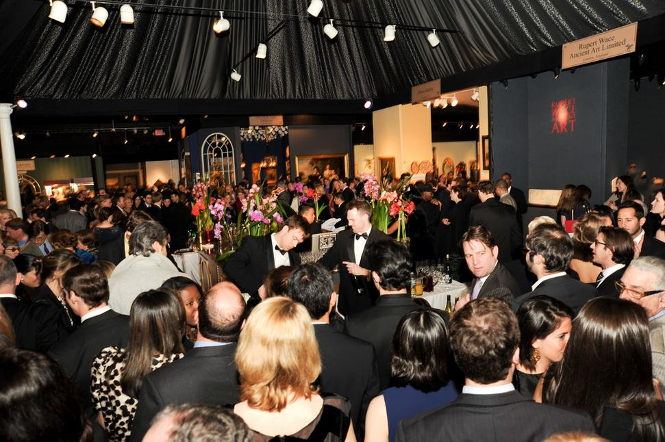 View of the 2012 Young Collectors Night at the Winter Antiques Show.