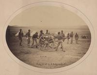 "Photographer unknown, ""Ram"", Bat'y 'A' 2d U.S.  Cord Artl'y, Lt."", 1865.  Albumen silver print, 5 ¼ x 7 ¼ in.  Collection of Julia J.  Norrell."