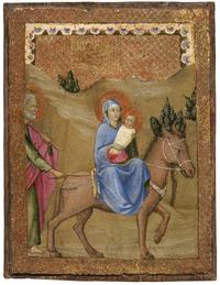 Flight into Egypt by Master of the Osservanza.