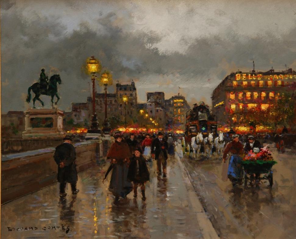 Famous Paris Street Scene Painting