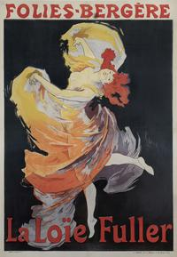 "Jules Chéret (French, 1836–1932) Printer: Chaix, Paris ""Folies-Bergère/La Loïe Fuller"", 1893 Color lithograph 48 5/8 x 33 7/8 in.  Acc.  no.  151740 Photograph by John Faier, © Driehaus Museum, 2015"