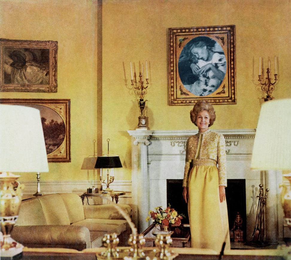 "First Lady (Pat Nixon), from the series ""House Beautiful: Bringing the War Home,"" c.  1967–1972.  © Martha Rosler, courtesy of the artist and Mitchell-Innes & Nash, NY Repro Credit: Digital Image © The Museum of Modern Art/Licensed by SCALA / Art Resource, NY"