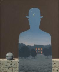 René Magritte, The Happy Donor, 1966; oil on canvas; Musée d'Ixelles, Belgium; © Charly Herscovici, Brussels / Artists Rights Society (ARS), New York