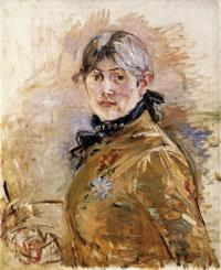 Berthe Morisot, Self-Portrait, 1885, oil on canvas.  Musée Marmottan-Claude Monet, Fondation Denis et Annie Rouart, Photo courtesy Musée Marmottan Monet, Paris, France / Bridgeman Images