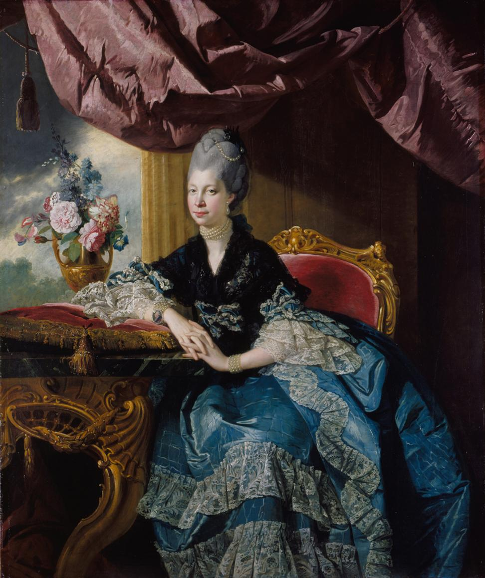 Johan Joseph Zoffany, Queen Charlotte, 1771, oil on canvas, Royal Collection Trust, UK, © Her Majesty Queen Elizabeth II 2016