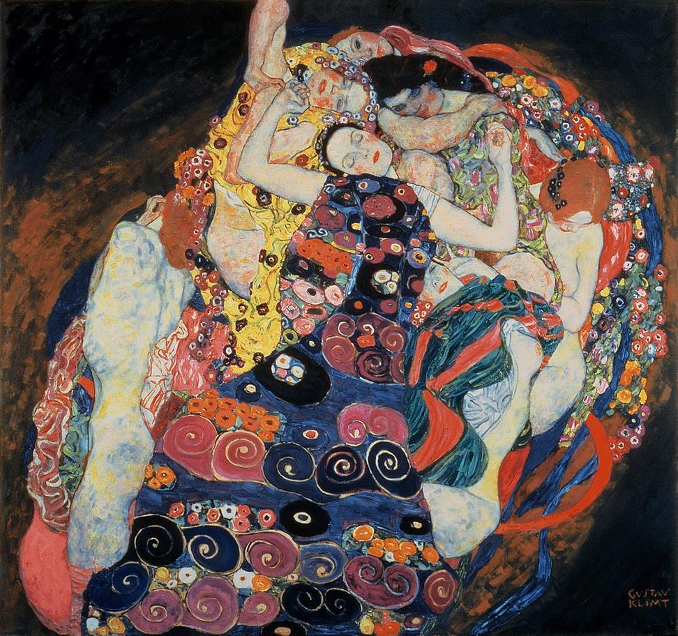 "Gustav Klimt, ""The Virgin,"" 1913.  Oil on canvas, 74 3/4 x 78 3/4 in.  (190 x 200 cm).  National Gallery Prague, Inv.  04512 © 2017 National Gallery in Prague"