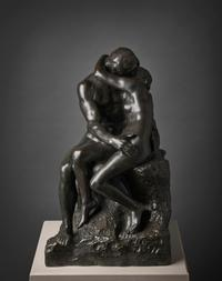 "Auguste Rodin, ""The Kiss,"" 1881–1882 (reduced 1904 [no.  4], cast ca.  1914).  Bronze, 23 1/4 x 14 1/4 x 14 7/8 in.  (59.1 x 36.2 x 37.9 cm).  Inscribed: Rodin.  Fine Arts Museums of San Francisco, Gift of Alma de Bretteville Spreckels, 1941.34.8"