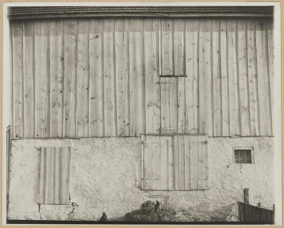 Side of White Barn, Bucks County, Pa., 1915.  (Charles Sheeler/The Lane Collection, courtesy of the Museum of Fine Arts, Boston)