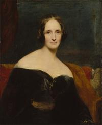 "Oil on Canvas Portrait of Mary Shelley by Richard Rothwell, on loan from the National Portrait Gallery in London for the ""It's Alive: Frankenstein at 200"" exhibition, at the Morgan Library, NYC, this October.  Curators John Bidwell and Elizabeth Denlinger will preview the exhibition in a talk and power point presentation at the upcoming Brooklyn Antiquarian Book Fair, Saturday, September 8th at 5pm.  The Fair runs Sept 8 & 9 at the Brooklyn Expo Center in Greenpoint."