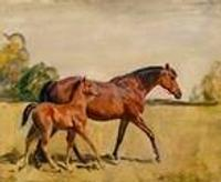 "Sir Alfred James Munning's signed painting, ""Mon Talisman, Chantilly, 1928"" was last year's top sale at $252,500."