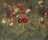 Maria Oakey Dewing (American, 1845 – 1927) A Bed of Poppies , 1909.  Oil on canvas.  Addison Gallery of American Art, Phillips Academy, Andover, Mass.  Gift of anonymous donor, 1931.2