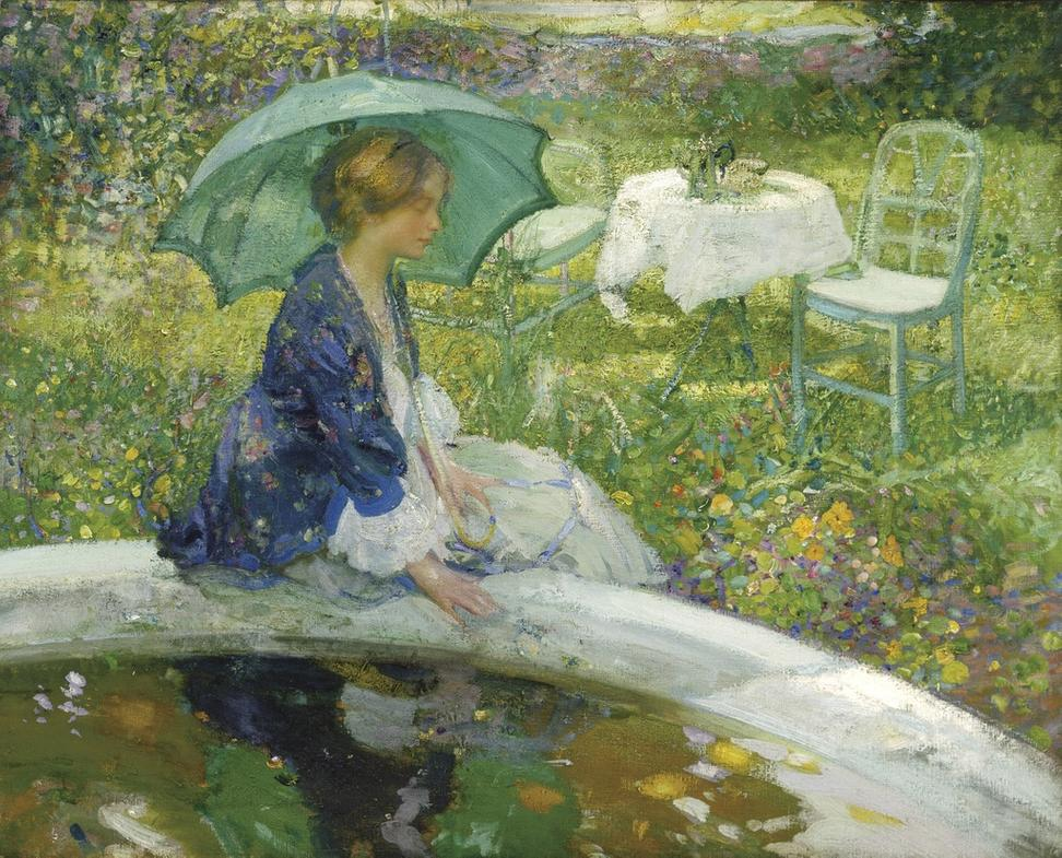 Richard Emil (or Edward) Miller (American, 1875 – 1943) The Pool, ca.  1910.  Oil on canvas.  Terra Foundation for American Art, Daniel J.  Terra Collection, 1988.13 Photo © Terra Foundation for American Art, Chicago
