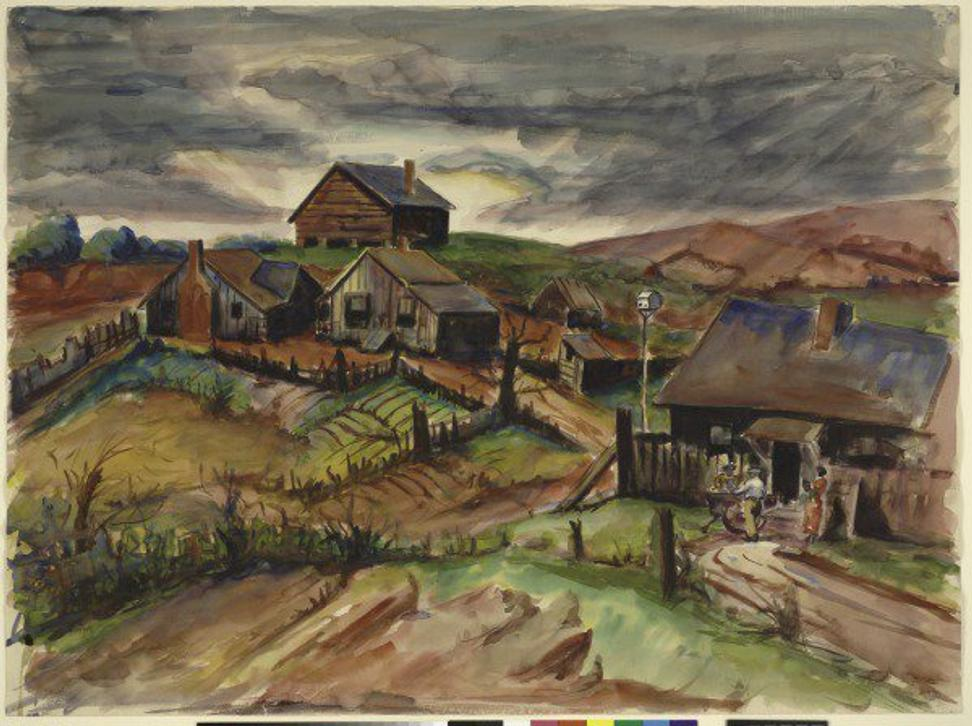 Dox Thrash.  Griffin Hills, c.  1940.  The Baltimore Museum of Art, BMA 1942.35