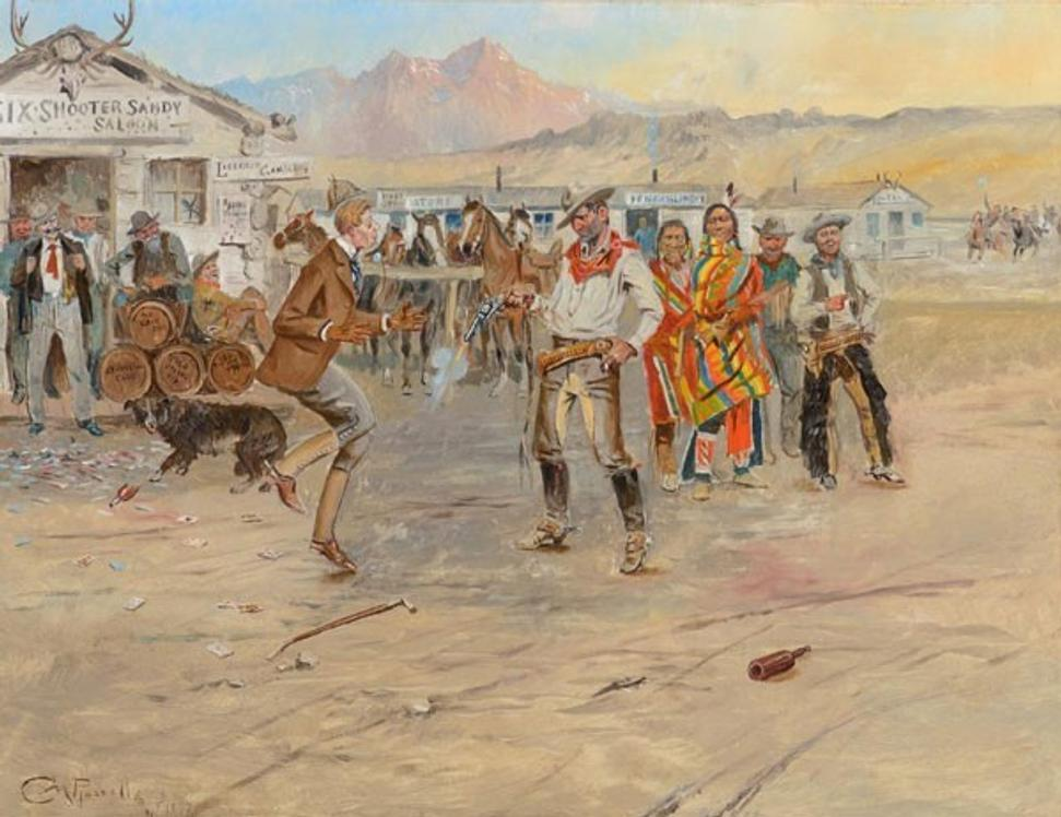 Charles M.  Russell, The Tenderfoot, 1897, Estimate $700,000-1,000,000
