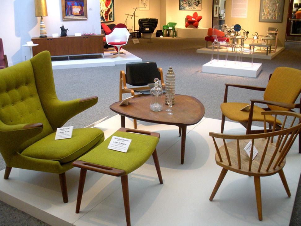 Modern Scandinavian furniture.  Collection of Kirkland Museum of Fine & Decorative Art.