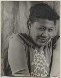 Ella Fitzgerald, January 19, 1940.  Gelatin silver print, image and sheet: 9 15/16 × 7 15/16 inches.  Philadelphia Museum of Art: Gift of John Mark Lutz, 1965.