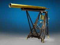 This extraordinary 6-foot tall telescope by Robert-Aglae Cauchoix (circa 1820) is one of three of the largest telescopes from the 19th century.  ($248,500)