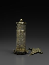 Gilt-silver wine-drinking Game Set, Tang dynasty, 8th century
