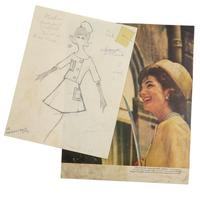 A Fashion Archive of Jacqueline Kennedy, With original sketches by Irwin Karabell for designer Oleg Cassini.  New York: 1960-63.  Est.  $10,000-15,000.