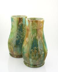 Kate Malone Pair of Giant Waddesdon Estate Vases, 2016 Crystalline-glazed stoneware