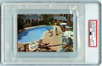 Rare 1964 Tropicana Motel postcard showing Sandy Koufax, large, with facsimile signature variation, graded PSA 10 Gem Mint Pop 1, from the K-15 Koufax! Collection (minimum bid: $2,500).