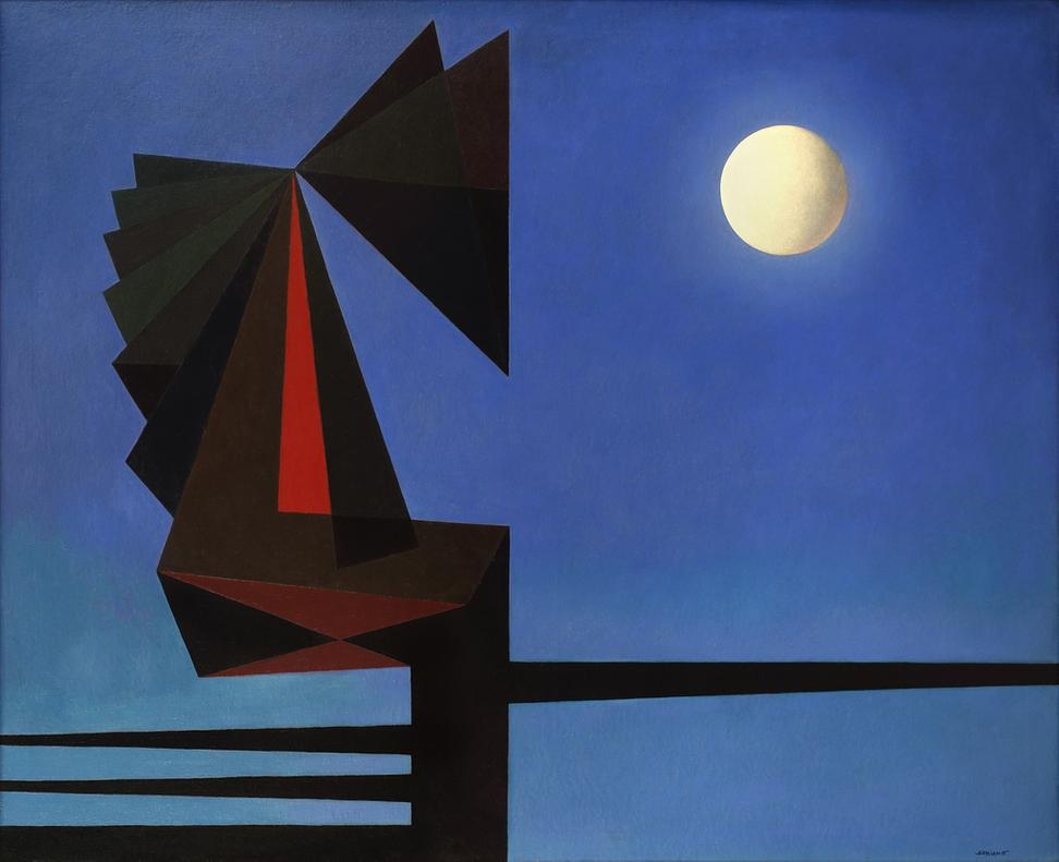 La noche (The Night), 1970, oil on canvas, 40 x 50″​, ​Rafael Soriano Family Collection