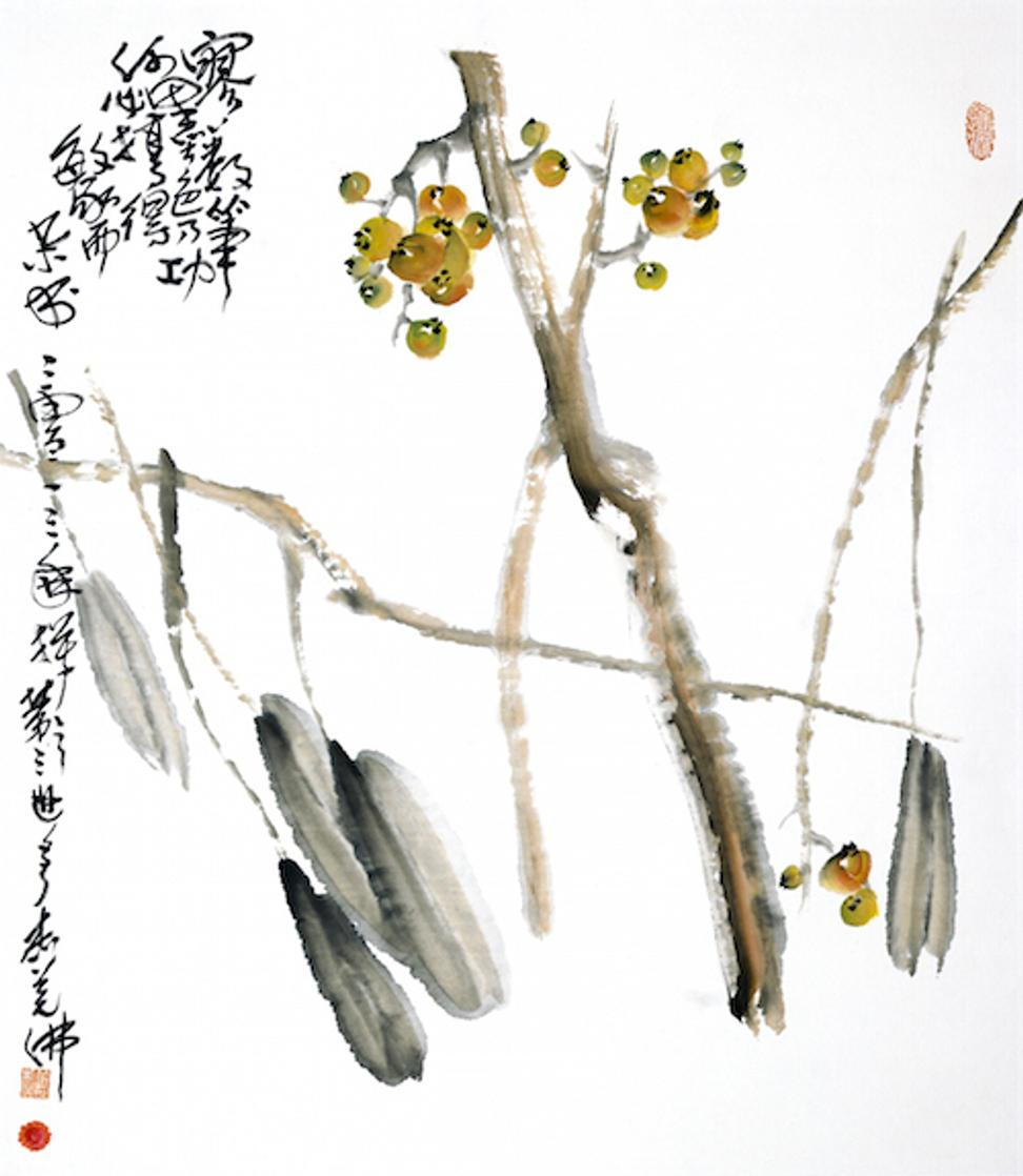 """Loquat"" by HH Dorje Chang Buddha III realized $10,200,000 at Gianguan Auctions New York on September 12, 2015"