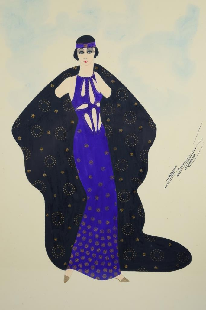 pair of original artworks hand signed by erte 1892 1990 will be