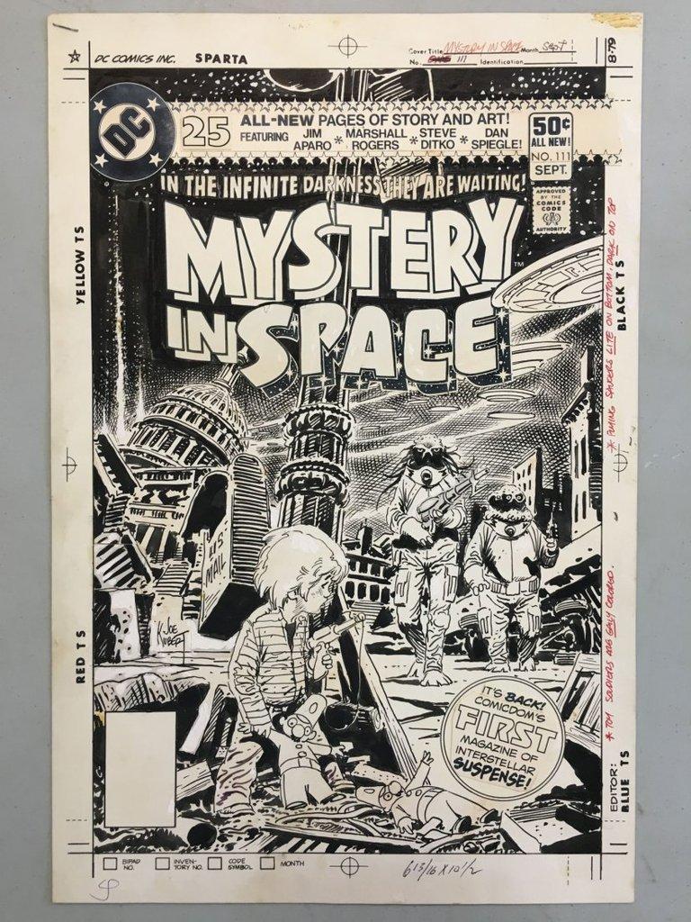 Book Cover Illustrations For Sale : Original comic book cover illustration by joe kubert